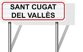 Welcome to Sant Cugat del Valles Spain road sign vector