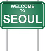 Welcome to Seoul vector