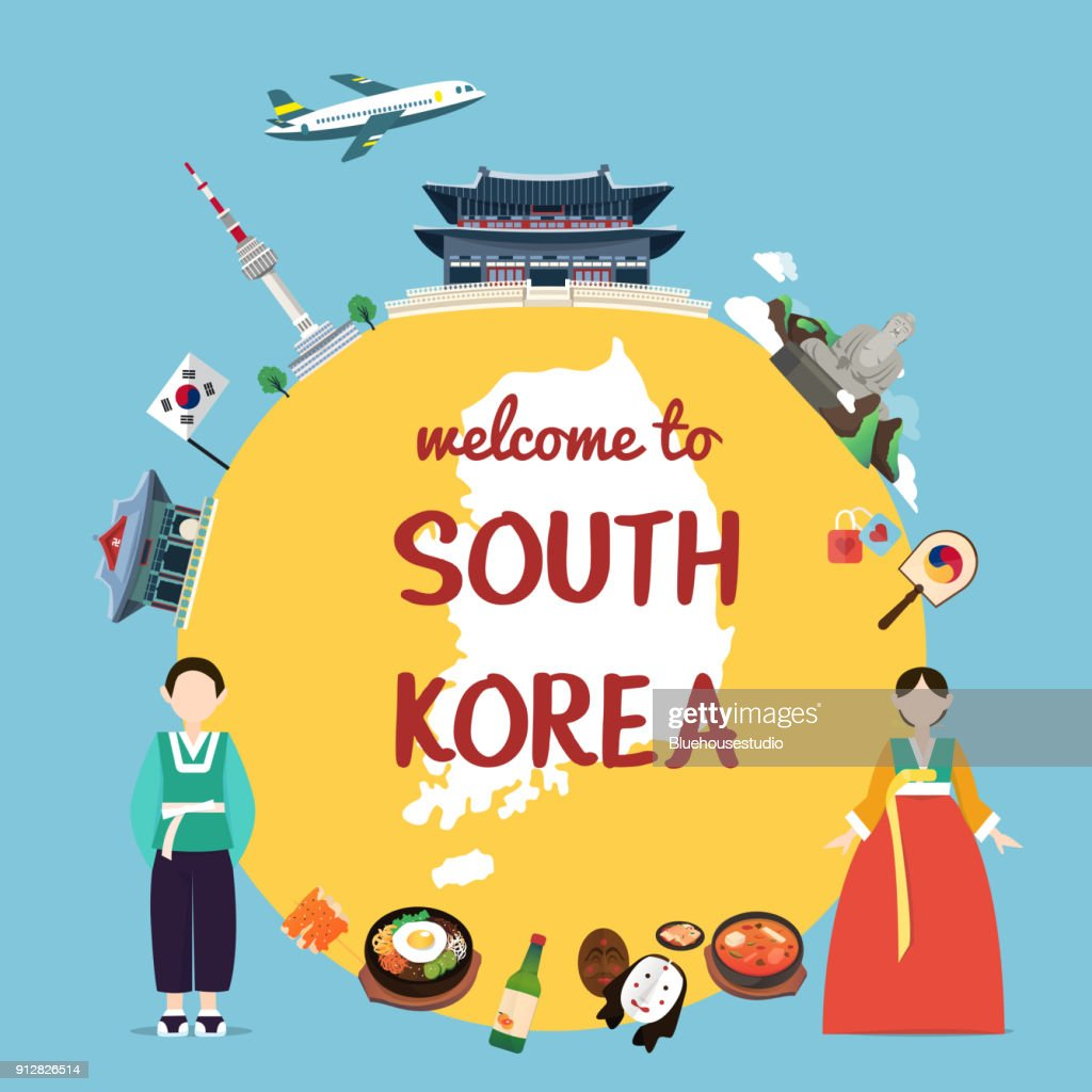 Welcome to South Korea with landmarks and tradition