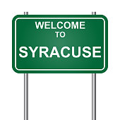 Welcome to Syracuse, green signal vector