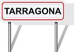 Welcome to Tarragona Spain road sign vector