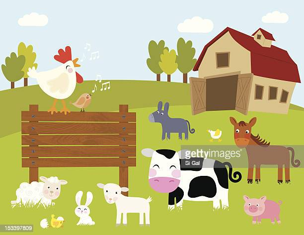 welcome to the farm - young animal stock illustrations, clip art, cartoons, & icons