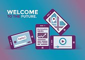 Welcome to the future mobile technologies. Mobile phones exhibition.
