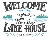Welcome to the lake house sign