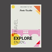 Welcome to The Ponte Vecchio, Italy Explore, Travel Enjoy Poster Template