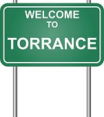 Welcome to Torrance, green signal vector