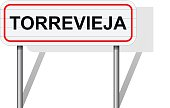 Welcome to Torrevieja Spain road sign vector