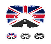 welcome to United Kingdom poster with flag