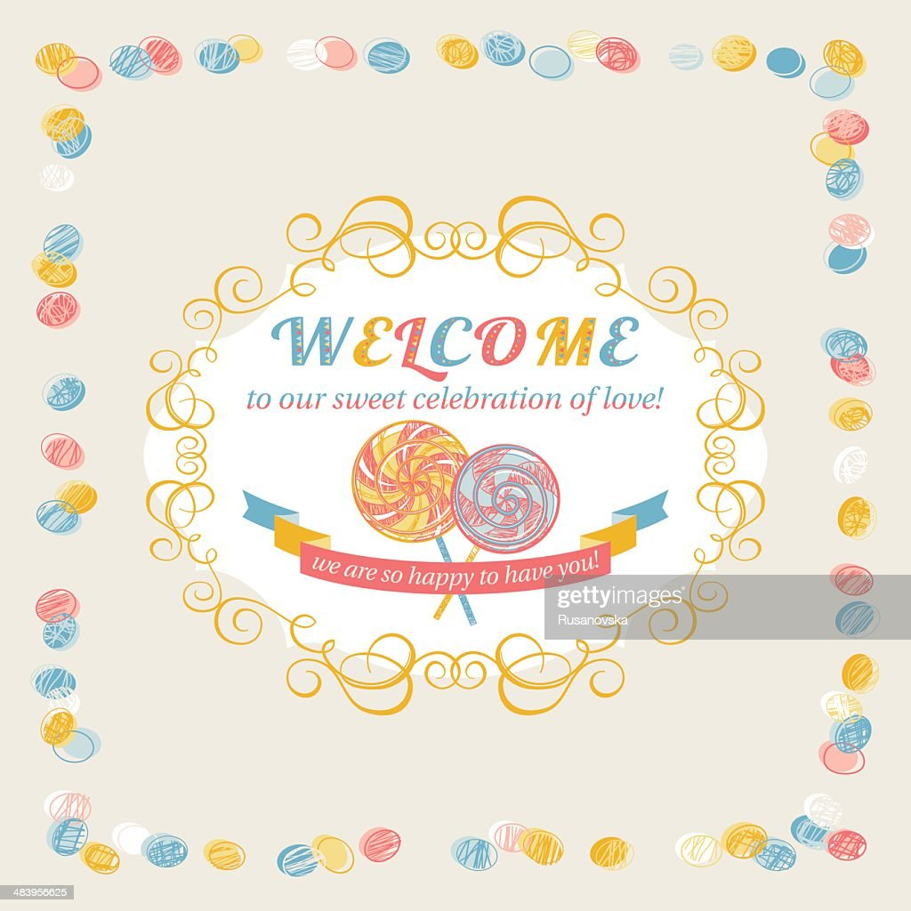 Welcome vector art getty images welcome greeting card vector art kristyandbryce Choice Image