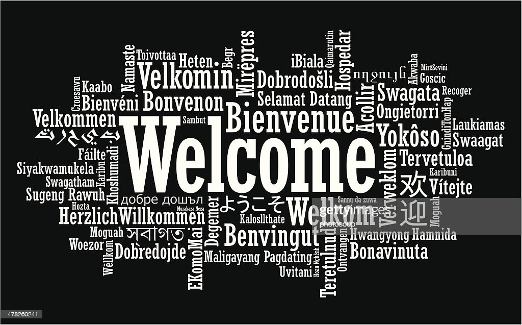 Welcome Word Cloud illustration