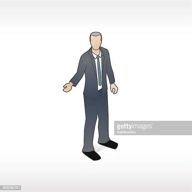 welcoming businessman illustration - mathisworks stock illustrations