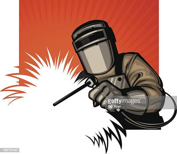ilustraciones, imágenes clip art, dibujos animados e iconos de stock de soldador gráfico - soldar