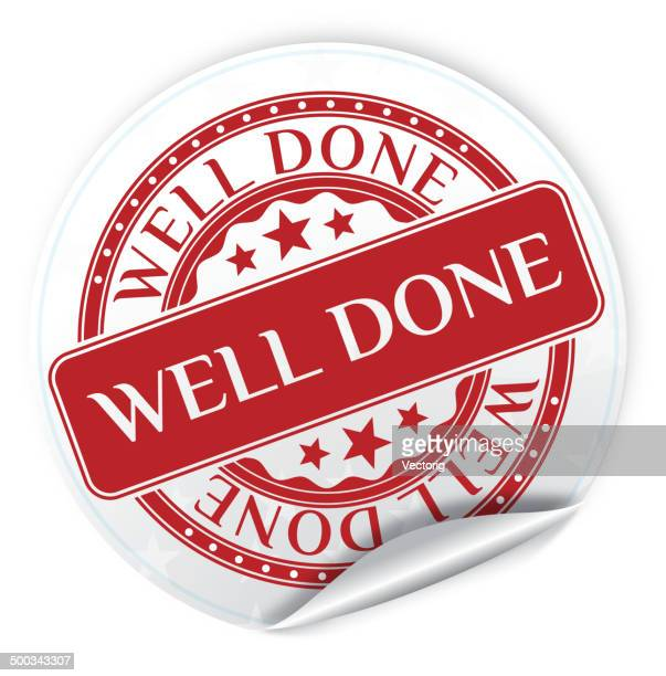 well done sticker - congratulating stock illustrations, clip art, cartoons, & icons