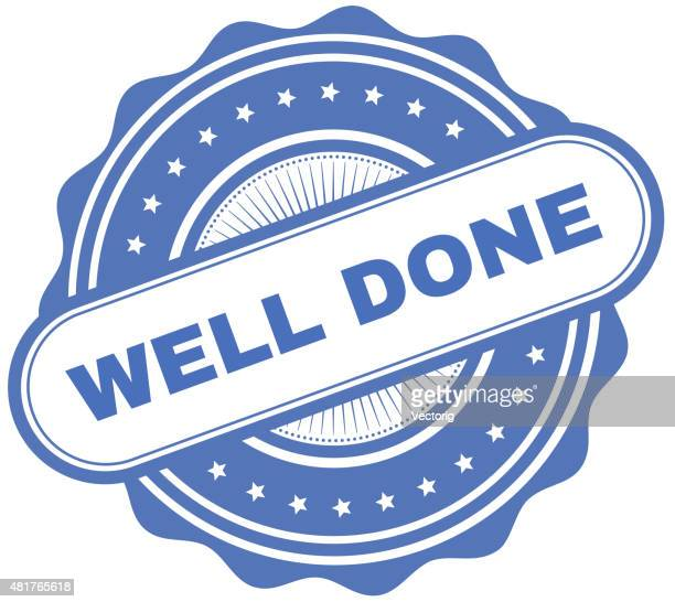 well done - congratulating stock illustrations, clip art, cartoons, & icons