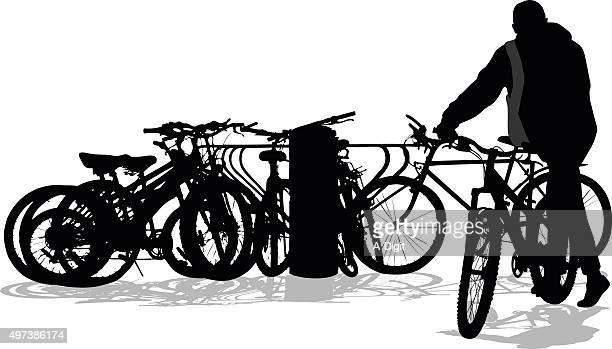 Well Used Bicycle Rack