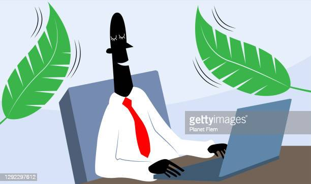 wellbeing at work - workers compensation stock illustrations