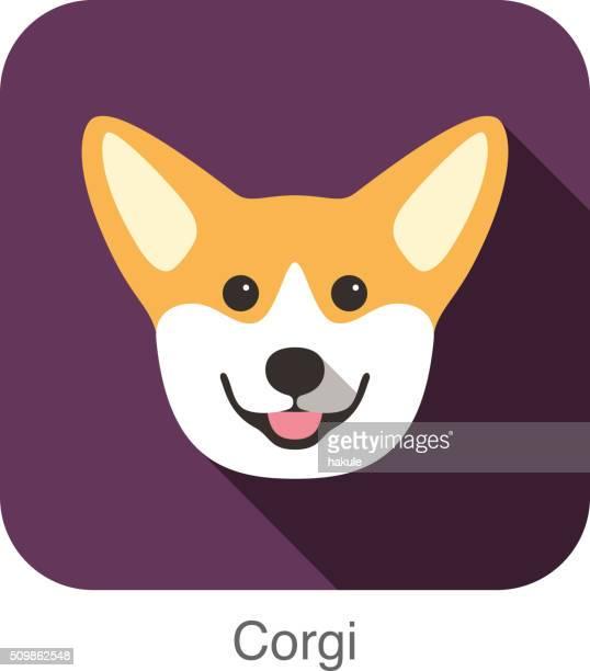 60点のコーギー犬のイラスト素材クリップアート素材マンガ素材