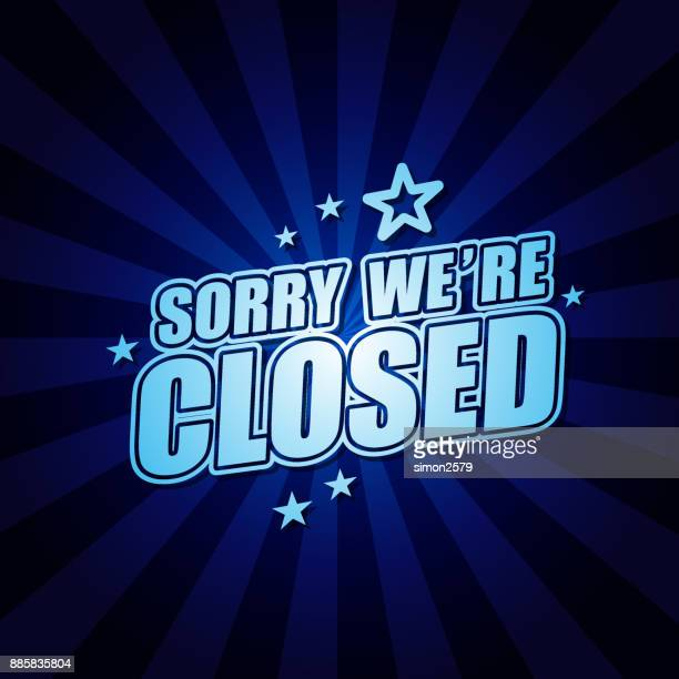 we're closed banner - closed sign stock illustrations, clip art, cartoons, & icons