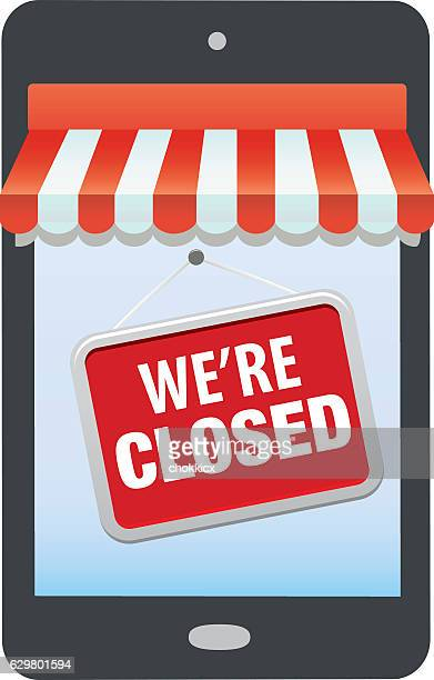 we're closed - closed sign stock illustrations, clip art, cartoons, & icons