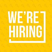 We're hiring. Vector banner