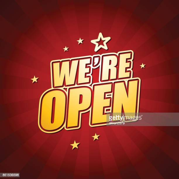 We're Open Banner