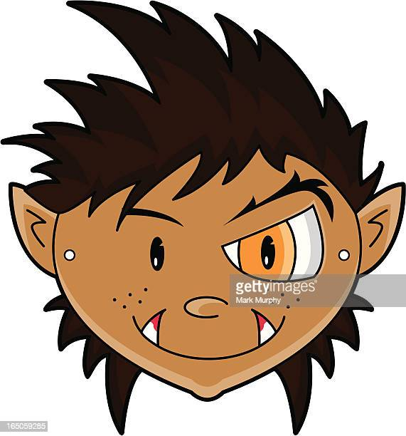werewolf children's paper mask - spiked stock illustrations, clip art, cartoons, & icons