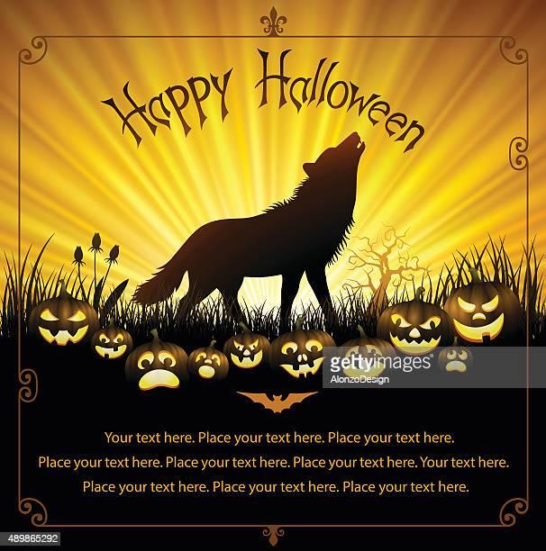 werewolf howl - werewolf stock illustrations, clip art, cartoons, & icons