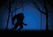 Werewolf Lurking In The Woods