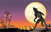 Werewolf on Halloween