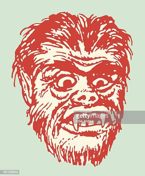 ilustrações de stock, clip art, desenhos animados e ícones de lobisomem - lobisomem
