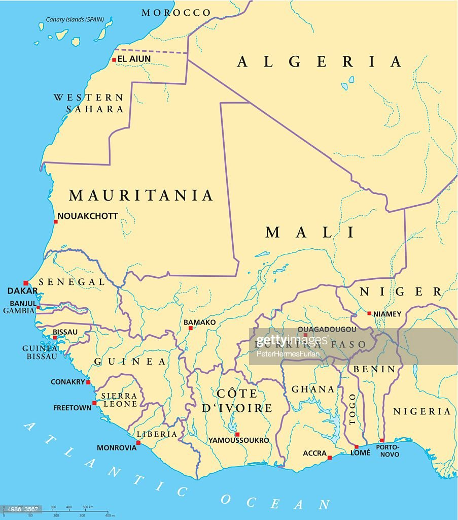 West Africa Political Map