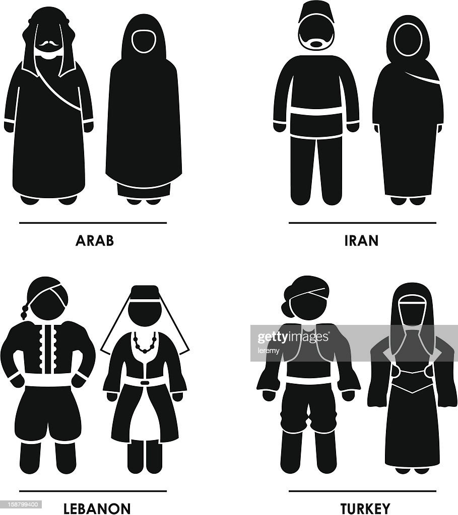 West Asia Clothing Costume Pictogram
