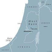 West Bank and Gaza Strip political map