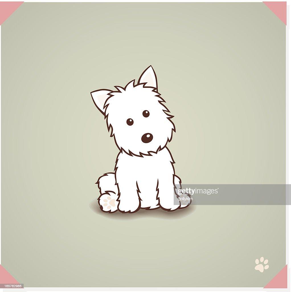 West ハイランドテリア犬 : ストックイラストレーション