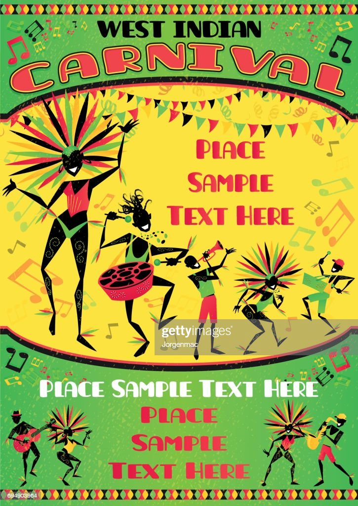 West Indian Carnival Portrait Poster