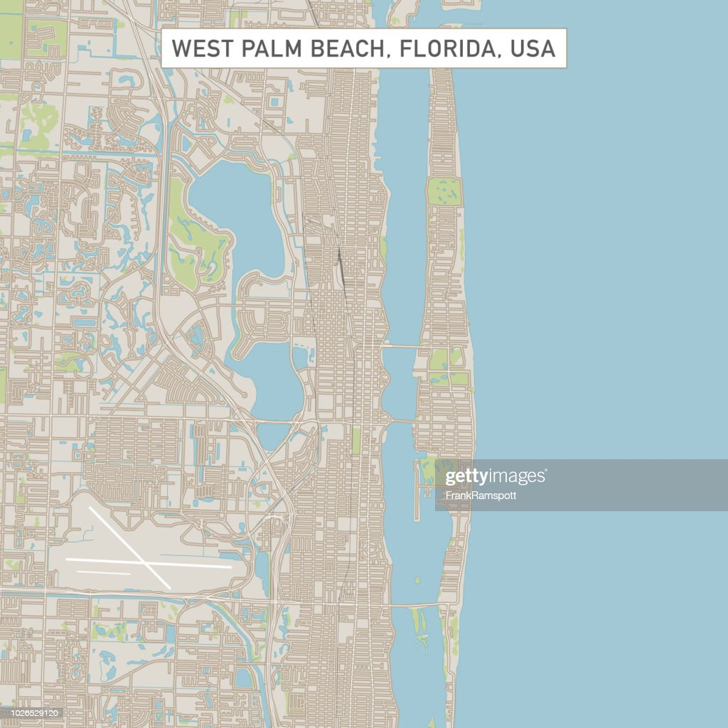 Map Of West Florida Cities.West Palm Beach Florida Us City Street Map Stock Illustration