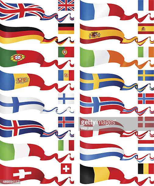 Western and North Europe Flag Banners collection