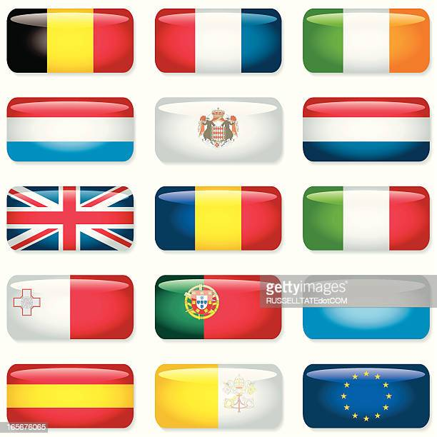 Western and Southern Europe Rectangular Flags