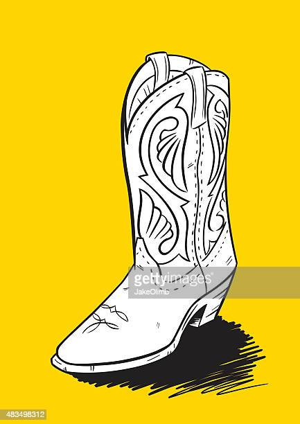 Western Cowboy Boot Hand Drawn