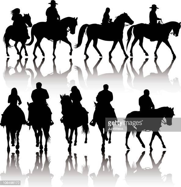 Western siluetas de caballos