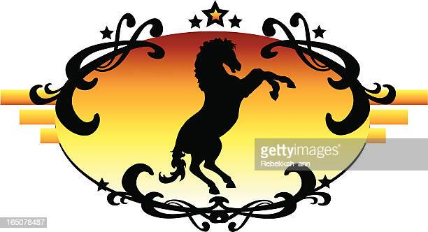 western house bubble - mare stock illustrations, clip art, cartoons, & icons
