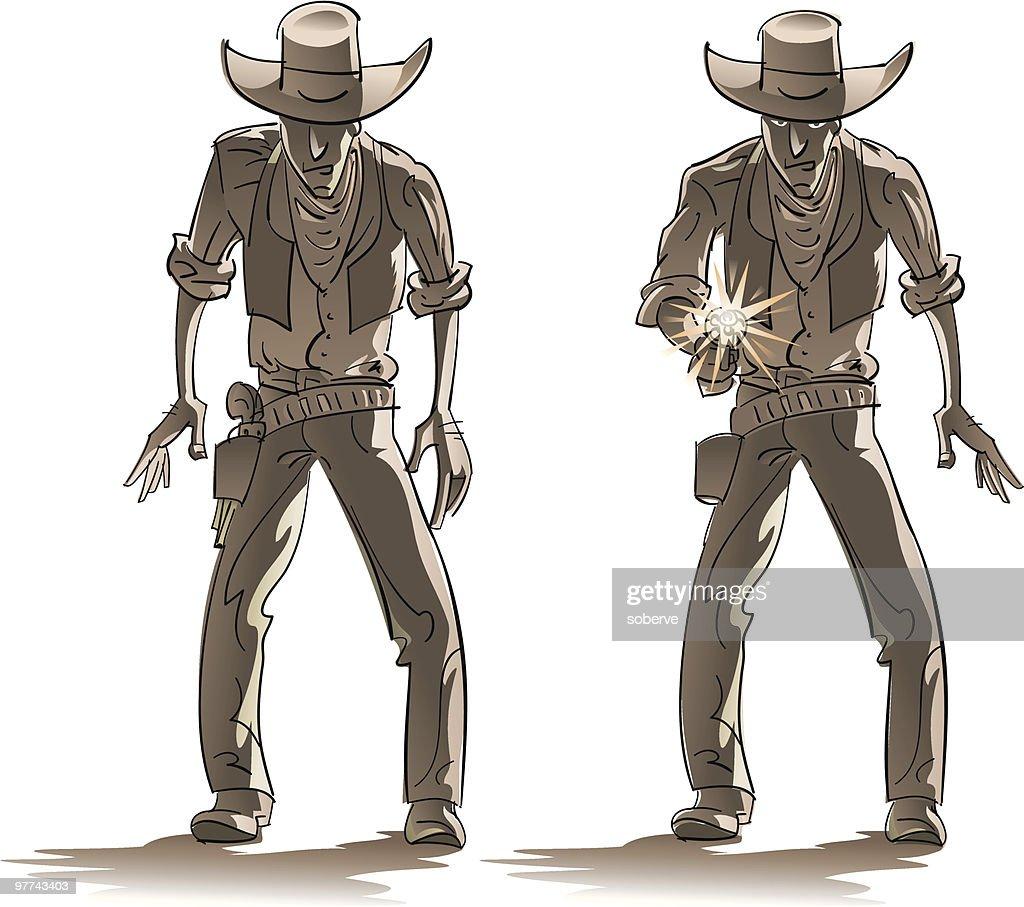 Western shooting : Vector Art