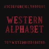 Western vintage alphabet font