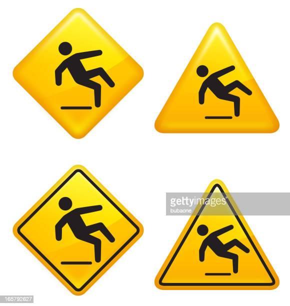 Wet Floor Warning Street Sign