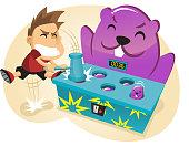 Whac-a-Mole Amusement Park Game