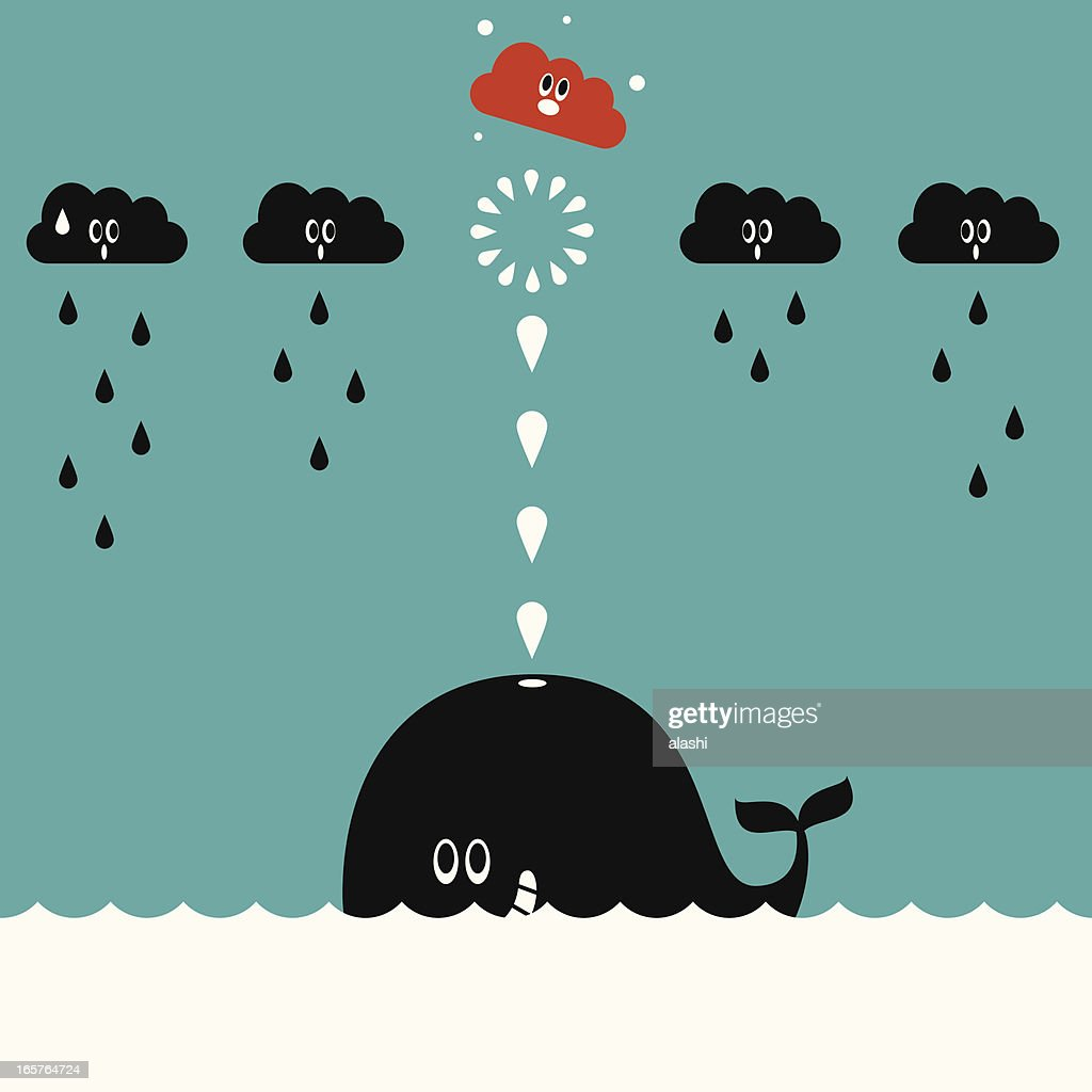 Whale Spray (Shooting) : stock illustration