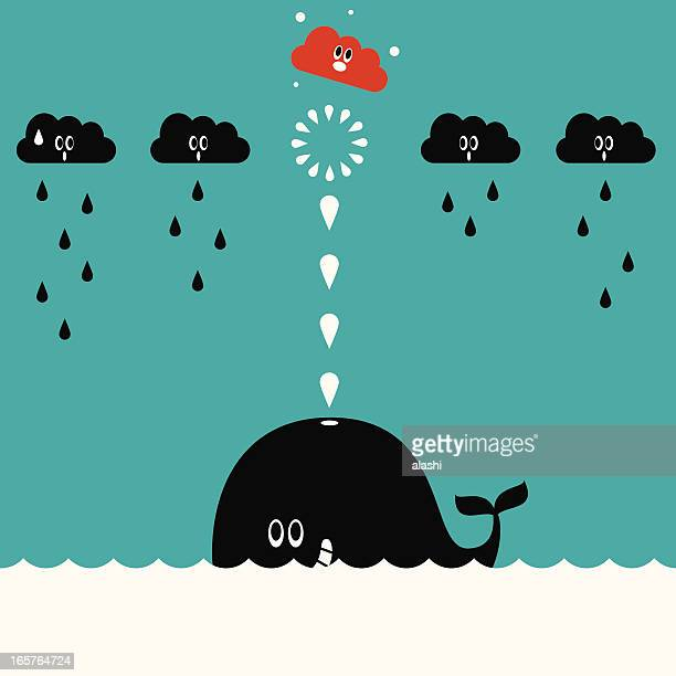 whale spray (shooting) - humpback whale stock illustrations, clip art, cartoons, & icons