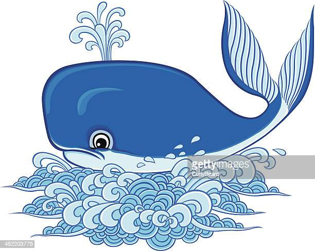 whale - blue whale stock illustrations, clip art, cartoons, & icons
