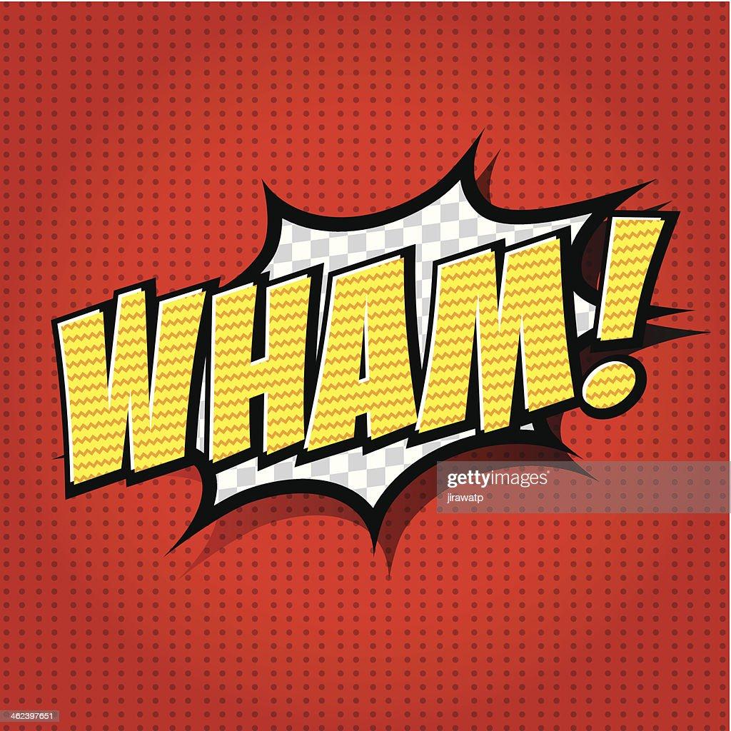 Wham! - Comic Speech Bubble, Cartoon