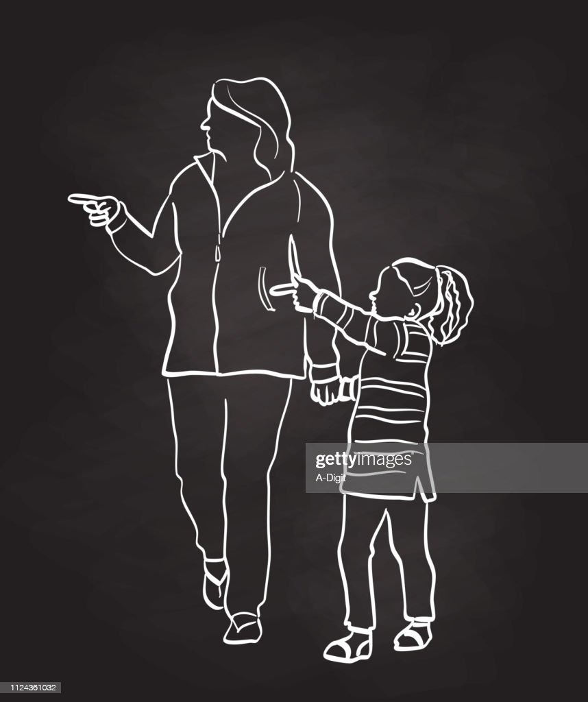 What Is That Mom : Stock Illustration